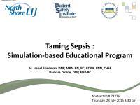 Taming Sepsis: Simulation-Based Educational Program