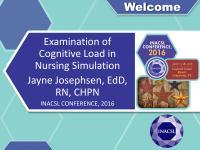 Examination of Cognitive Load in Nursing Simulation