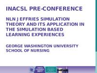 NLN Jeffries Simulation Theory and its Application in the