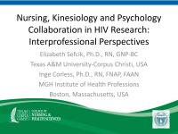 Nursing, Kinesiology, and Psychology Collaboration in HIV Research